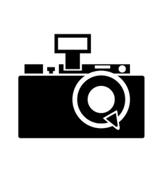 retro camera isolated icon design vector image