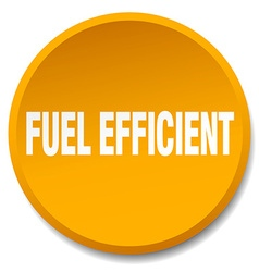 Fuel efficient orange round flat isolated push vector