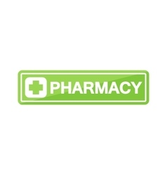 Pharmacy shop signboard vector