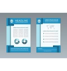 Flyer brochure design template A4 size vector image