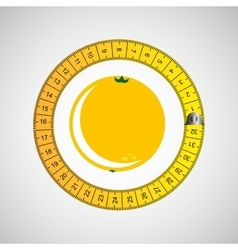 Orange and tape measure vector
