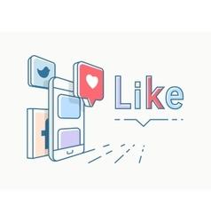 Social media concept design vector