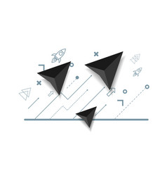 abstract arrow growth up business concept vector image