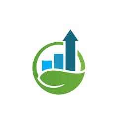 Arrow business graph nature logo vector