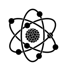 black silhouette of atom structure vector image