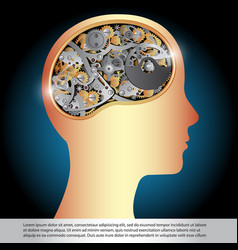brain gear vector image vector image
