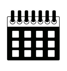 Calendar planner date template for week vector