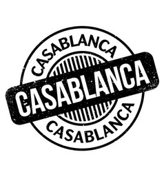 Casablanca rubber stamp vector
