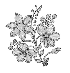 Decorative flowers vector