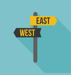 East west road sign vector