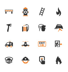 emergency icons set vector image
