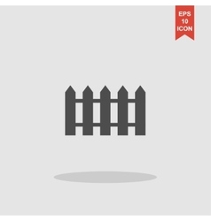 fence icon Flat design style vector image