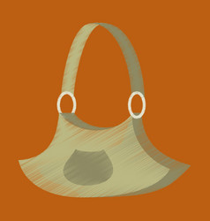 flat shading style icon clothes handbag vector image vector image