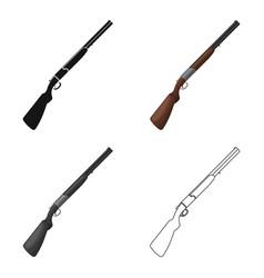Hunting rifleafrican safari single icon in vector