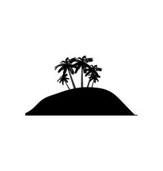 Island silhouette symbol vector