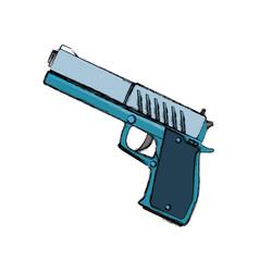 isolated handgun weapon vector image