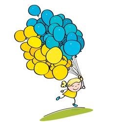 Kid balloon ukraine vector