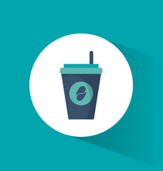 paper coffee cup beverage vector image