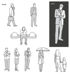People and actions in public vector image vector image