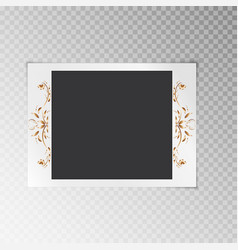 Photo frame with a flower pattern vector