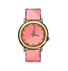 pink glamorous women watch isolated vector image vector image