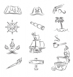 pirates set vector image vector image
