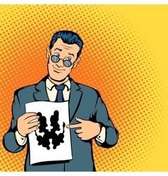 Psychologist concept comics style vector