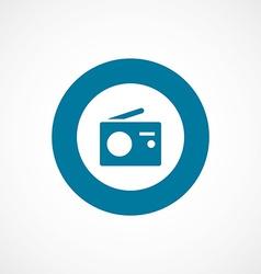 radio bold blue border circle icon vector image