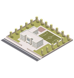 school isometric on white background vector image vector image