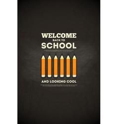 school poster pencils vector image