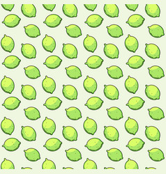 Seamless pattern with limes vector