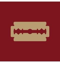 The blade razor icon shaver symbol flat vector