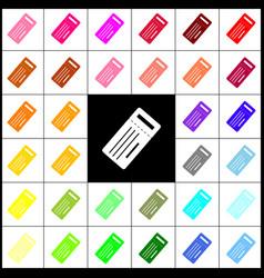 ticket simple sign felt-pen 33 colorful vector image