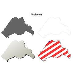Tuolumne county california outline map set vector