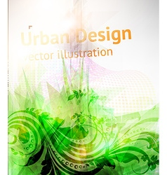Urban floral design vector