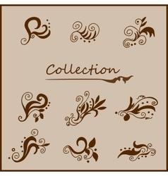 Vintage curls collection vector
