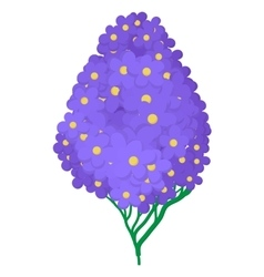 Violet hydrangea icon cartoon style vector