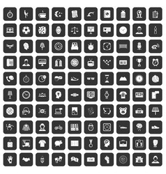 100 clock icons set black vector