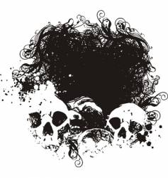 Fear grunge skulls illustration vector