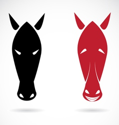 Image of an horse mask vector