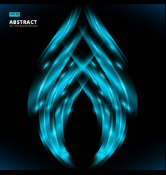 abstract blue lines design on dark background vector image