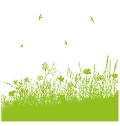 Meadow spring vector
