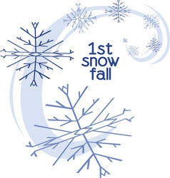 1st snow fall vector