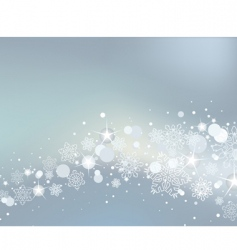 Winter background with white snowflakes vector