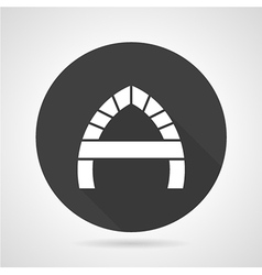 Arch with partition black round icon vector