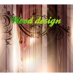 Wooden floral background vector