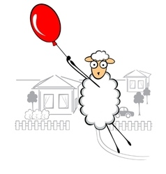 Funny young sheep vector