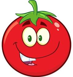 Smiling Tomato Cartoon Mascot vector image