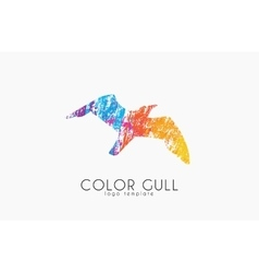 Gull logo color gull birl logo creative logo vector
