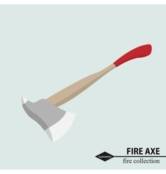 Axe to deal with obstacles in the fire situation vector
